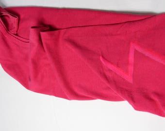 REBEL BOLT TANK ϟ Hand Printed Upcycled Custom Lemonbright Shop Sleeveless Pink Tee / Top