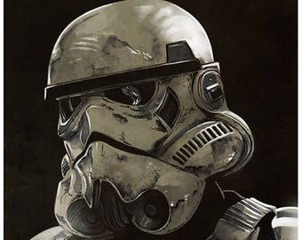 For The Empire - Star Wars Stormtrooper art print