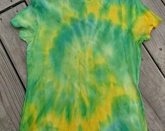 Drippy Green and Yellow Swirl