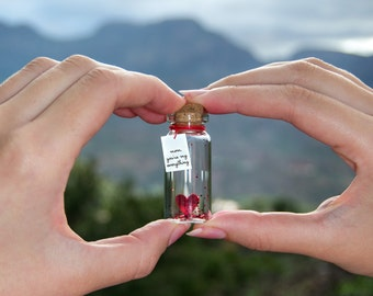 mom, dad, son, daughter, grandma, grandpa, sister, brother, friend..., you're my everything. Tiny message in a bottle. Happy Mother's Day