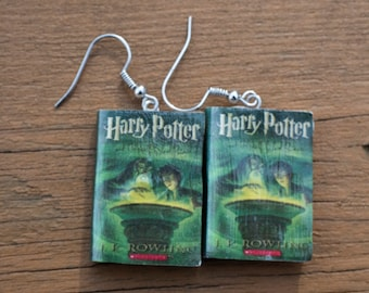 Harry Potter and the Half Blood Prince book Earrings