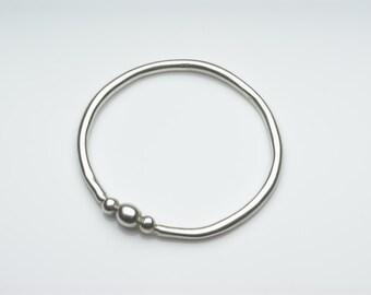 Silver bracelet, silver bangle, simple silver bracelet