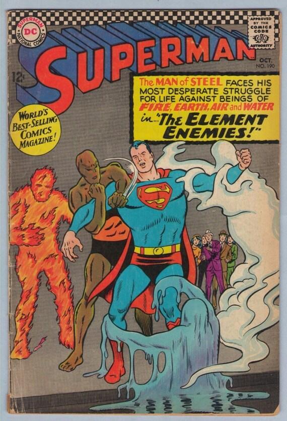 Superman 190 Oct 1966 VG+ (4.5)