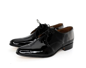 Derby Shoes in Black Patent Leather