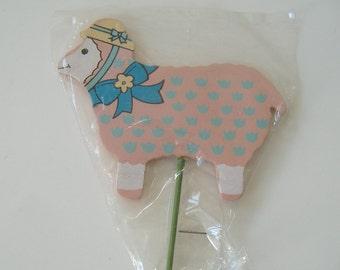 Sheep Cake Topper, Cake Accent Stick, Sheep Cake Accent, Cake Decor, Party Decor, Sheep On A Stick