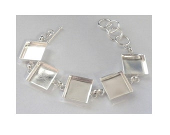 Square Linked Mosaic Jewlery Bracelet