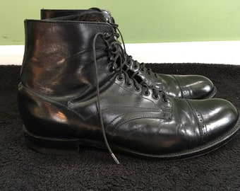 Vintage STACY ADAMS cap toe ankle boots 8.5