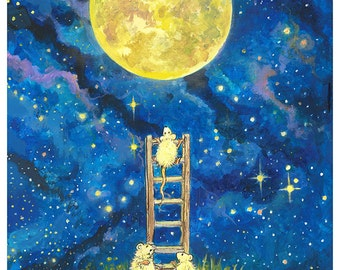 In Need of a Longer Ladder Poster by Tony Troy 11x18