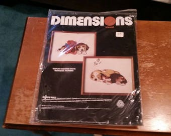Dimensions puppy pals needlepoint kit