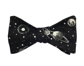 Intergalactic (Self tie cotton bow tie)