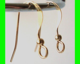14k Gold Filled french hook Earring Ear Wire with 2mm bead  GE23