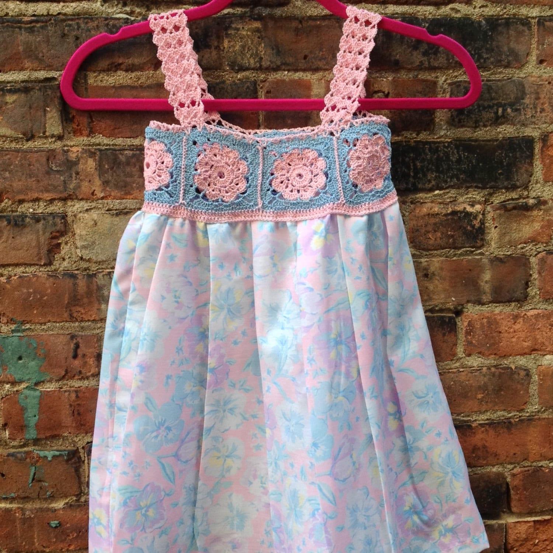 Baby dress crochet top dress toddler crochet dress boho