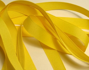 "5/8"" Grosgrain Ribbon - Canary Yellow"