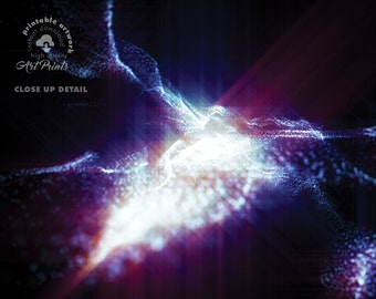 Flying Through a Galaxy - PRINTABLE Design. Universe Series by Milica ZZAA .:. 006 High Quality Instant DOWNLOAD -  Fractal Quantum Particle