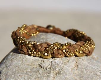 Braided Bohemian Bracelet - Summer Bracelet - Layering Bracelet - Boho Wrap Bracelet - Boho Jewelry Ideas - Beaded Summer Bracelet