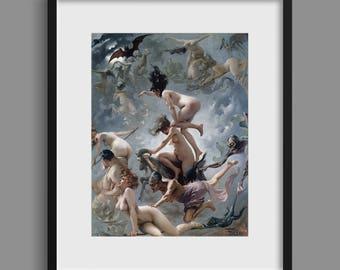 Witches Going to The Sabbath - Luis Ricardo Falero 1878