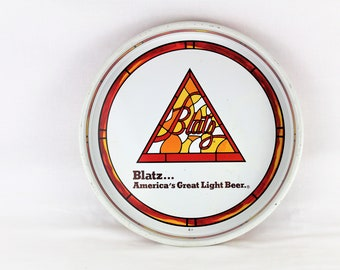Vintage 1970s Blatz Beer Serving Tray