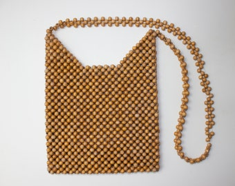 Vintage wooden beaded bag