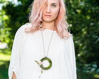 Plantaë orbis, Wearable Planter Necklace, Small Planter pendant, succulent planter necklace, Unique Jewelry