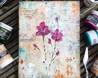 Mixed Media Abstract Florals