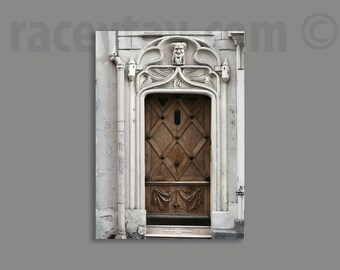 Paris Photography, Door Print, Gray, Brown, Paris Decor, Neutral, Gothic, Architecture, Old Door Photo