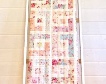Patchwork quilted throw, handmade blanket, lap quilt, home decor, new home gift, gifts for her, bedroom decor, patchwork quilt, sofa blanket