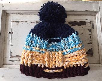 Womens Beanie - Winter Hat - Anthropologie Inspired Beanie- Cold Weather Accessory- Pom Pom Hat- Warm Winter Accessory-Women Hat with Pom