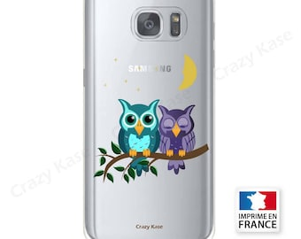 Soft case for Samsung Galaxy pattern couple of owls