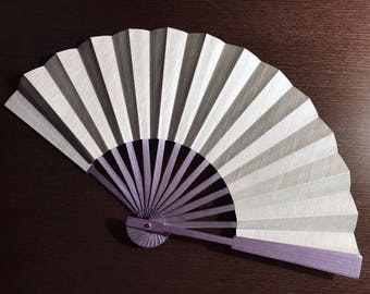 SILVER Hand Fan-Handmade-EXPRESS delivery business days-SAVE on Shipping /Free Shipping on Second and Third items in this shop