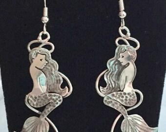 Sterling silver Mermaid earrings