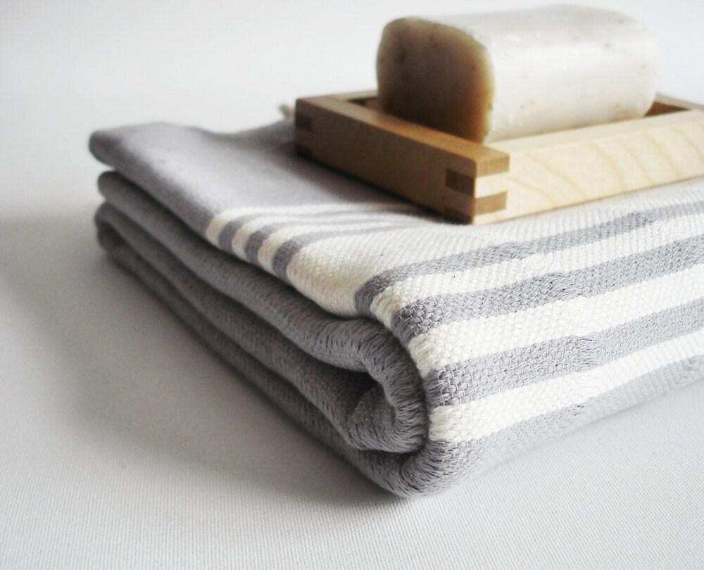 sale 50 off bathstyle gray white turkish beach bath towel. Black Bedroom Furniture Sets. Home Design Ideas