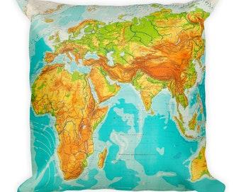 Around the World - Square Pillow