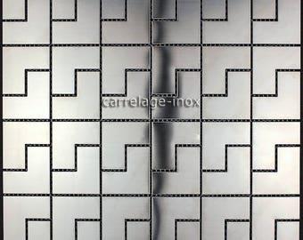 Stainless steel mosaic kitchen Spiro