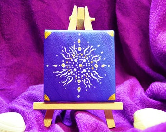 Mandala on Tiny Canvas