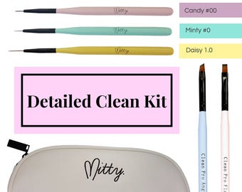 Nail Art Detail & Clean Up Brush Kit by Mitty
