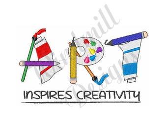 Art Paint Creativity - Machine Embroidery Design