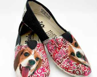 BEAGLE SHOES, Animal lovers, dog breeds, beagle shoes. Dog lovers, pawies