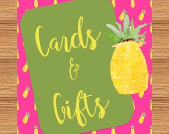 Pineapple Party Cards and Gifts Sign