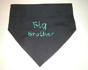 Big Brother, Dog Bandana, Pregnancy reveal, Slides over the collar, Scarf, Gender Reveal, Photo shoot, dog lovers gift, baby shower gift