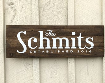 Name Established Sign, Wedding Gift Sign, Personalized Wood Sign, Name Date Pallet Sign, Wedding Date Sign, Farmhouse Style, Rustic Wedding