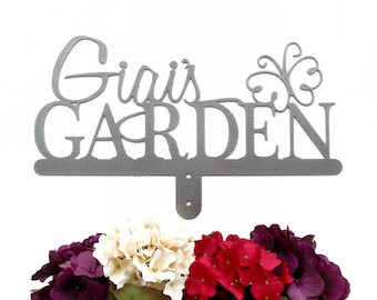 Name Sign   Custom Garden Sign   First Name   Gift For Her   Metal   Custom Gift   Personalized Gift   Sign   Gift   Butterfly