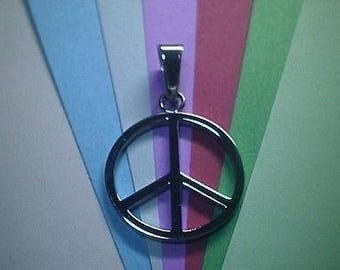 Peace Sign Stainless Steel 1 inch very exact detail