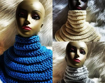 Crochet Nefertiti Statement Scarf Pattern