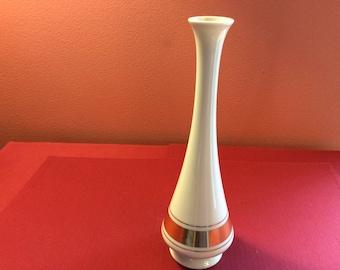 Vintage Lenox Gold Trimmed Bud Vase- Porcelain