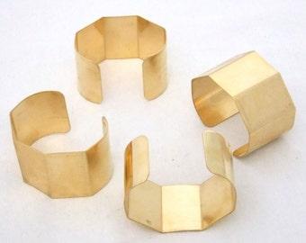 5 Sided Brass Bracelet Cuff Blanks For Jewelry Making 1.5 inch Pkg Of 4