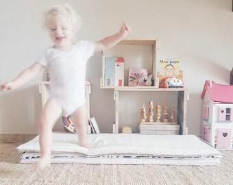 Matelas de sol bébé Montessori Ecru - Coton Bio / Tapis de jeu - matelas de sol - tapis d'éveil - tapis de sol - playmat - nido - montessori