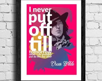 inspirational quote -  Oscar Wilde  - citation - poster - pop Art