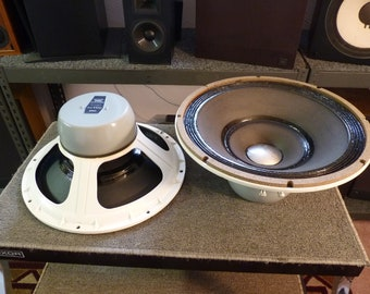 "Altec Lansing 420a Speakers - Vintage 15"" BiFlex Woofer Pair - Full Range Frequency Response - Tested Working"