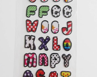 1 Board stickers stickers letters alphabet A to Z (ref JF 1210)