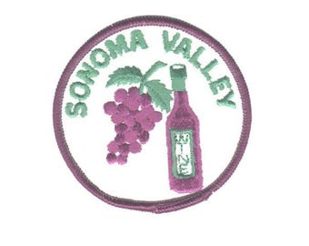 Sonoma Valley Patch - California, Wine Country (Iron on)
